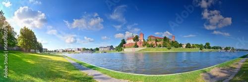 Obraz na dibondzie (fotoboard) Letnia panorama Krakowa z Wawelu, Polska