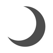Dark Half Moon Icon Isolated -...