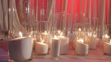 Burning Candles In Glass Flask...