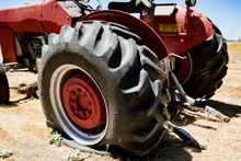 Flat Tire On An Agricultural F...