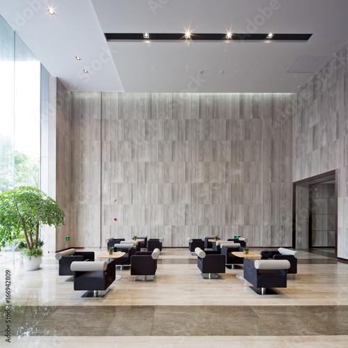 Fototapeta interior of modern entrance hall obraz