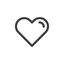 Heart Line Simple Icon, Outlin...