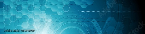 Fototapeta Abstract tech industrial geometric web header banner obraz