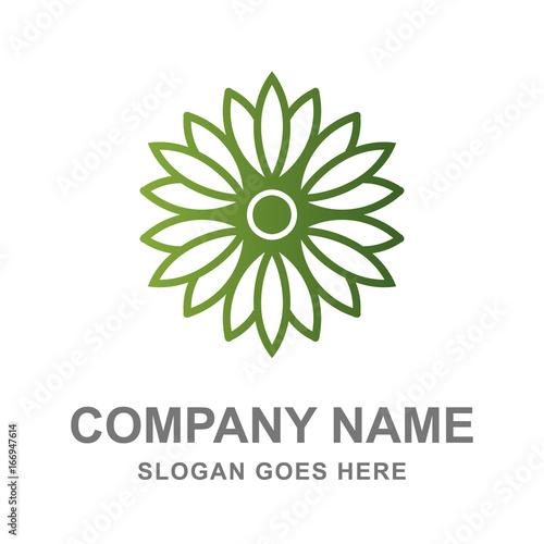 Fotografie, Obraz  Lotus Flower Beauty Care Logo