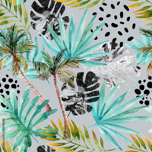Ręcznie rysowane streszczenie lato tropikalne