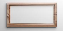 Brown Frame On White Background. 3d Illustration