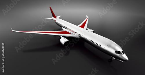 Fotografering  Passenger airplane in studio or hangar. Aircraft, airline