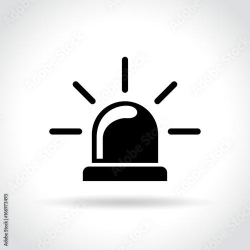Photo  beacon icon on white background