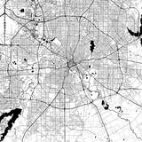 Dallas Monochrome Vector Map - 166974686