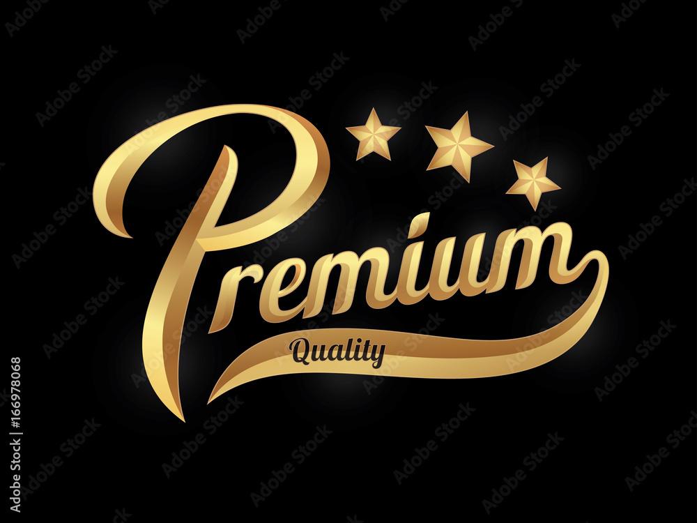 Fototapeta Premium quality lettering banner. Vector illustration.