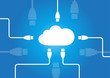 Vector of Cloud Computing - Internet - Software - Storage - Network Background