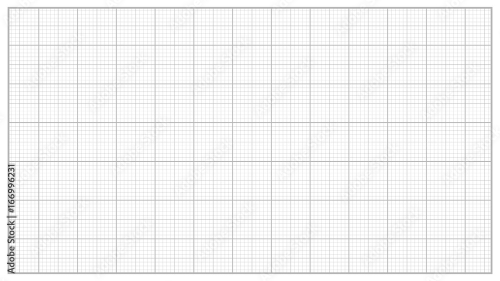 Fototapety, obrazy: Millimeter Paper Vector. Grey. Graphing Paper For Engineering, Education, Drawing Projects. Graph Grid Paper Measure Illustration