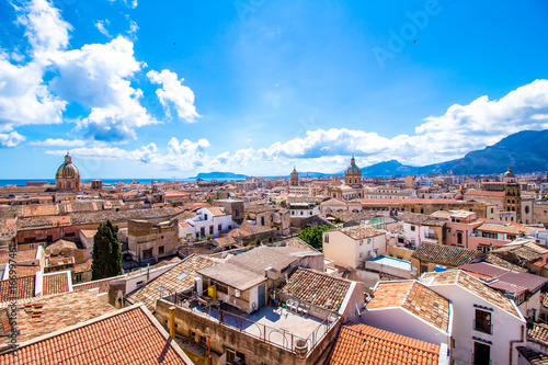 Cityscape of Palermo in Italy