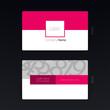 Business card geometric design concept Vector Illustration