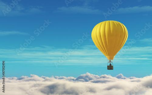 man-in-a-hot-air-balloon-yellow