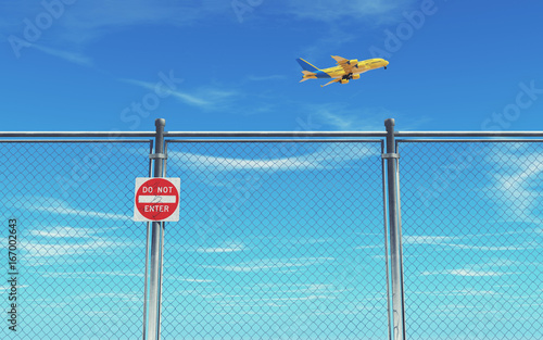 5c4ec3a47d11 Restricted area fence - Buy this stock illustration and explore ...