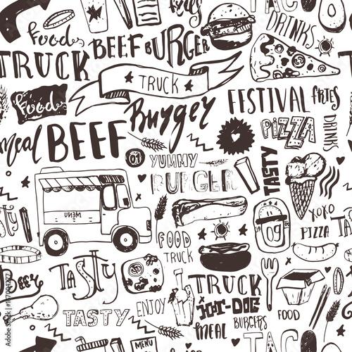fast-food-truck-wzor-z-napisami