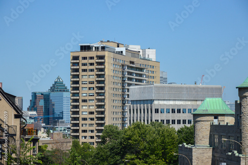 Stampe  Modern condo buildings in downtown Montreal, Canada