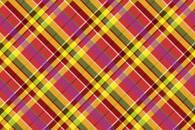 Madras Colored Plaid Diagonal Fabric Texture Seamless Pattern