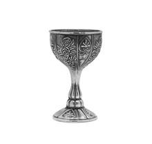 Vintage Metal Cup With Flower ...