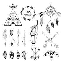 Tribal Collection Of Hand Draw...