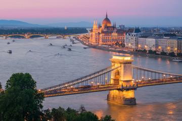 Fototapeta na wymiar Twilight in Budapest