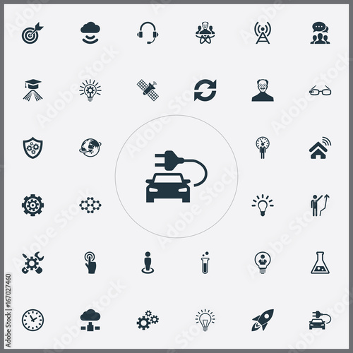 Vector Illustration Set Of Simple Solution Icons  Elements