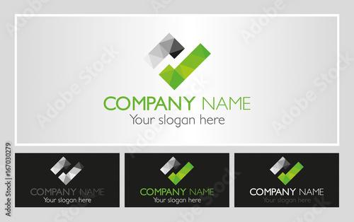 Fototapeta Nowoczesne logo dla firmy zielone ok obraz