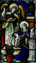 Naklejka Witraże sakralne Annunciation in stained glass