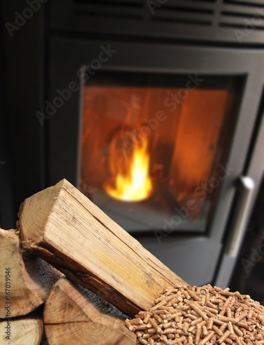 Fotografia, Obraz  Chauffage aux granulés de bois