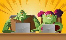 Male And Female Internet Troll...