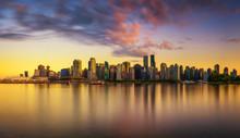 Sunset Skyline Of Vancouver Do...