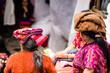 Leinwanddruck Bild View on Maya woman on market in chichicastenango - Guatemala