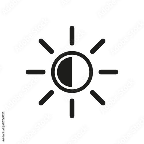 Brightness symbol simple icon Canvas Print