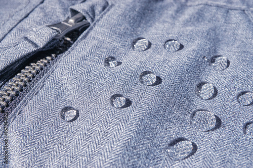 rain drops on waterproof clothing Canvas Print