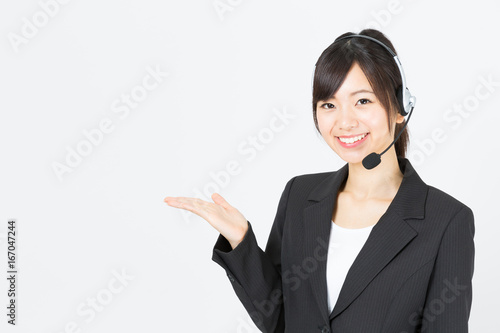 Fotografía  portrait of asian businesswoman isolated on white background