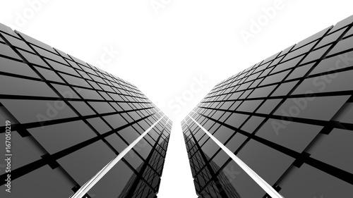 Obraz na płótnie Futurystyczny czarny architektury tło. Renderowanie 3D.