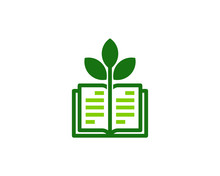 Green Book Icon Logo Design El...