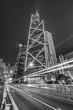 Night traffic in urban city
