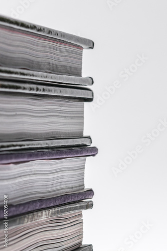 Fotografie, Obraz  Stacked books close-up