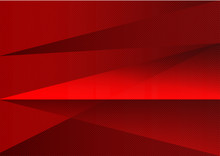 Red Abstract Background Vector Triangle And Straight Line