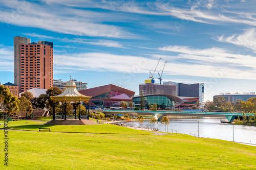 Adelaide city skyline on a day Canvas Print