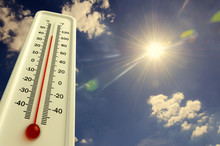 Heat, Thermometer Shows The Te...