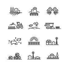 Village Line Landscapes With A...