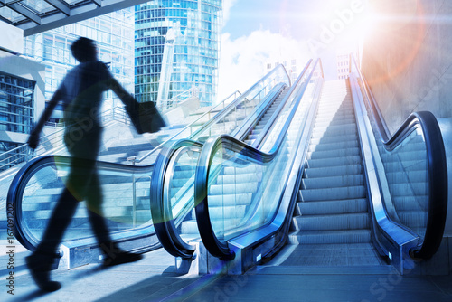 Fototapeta escalator