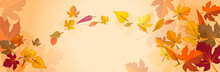 Banner On The Autumn Theme