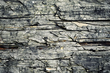 Detail Of Wood With Cracks And...