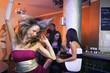 Pretty Blond Woman Dancing In A Nightclub