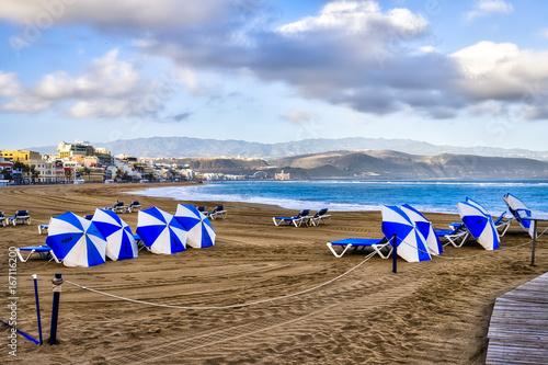 Playa de las Canteras Las Palmas Gran Canaria.