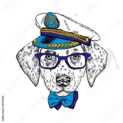 przystojny-szczeniak-w-czapce-okularach-i-krawacie-ilustracja-wektorowa-na-pocztowke-lub-plakat-wydrukuj-na-ubrania-styl-mody-dalmatynski